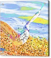 Colorful Seagull Acrylic Print