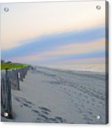 Colorful Skies On The Beach In Stone Harbor Acrylic Print