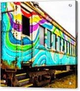Colorful Skunk Train Passenger Car Acrylic Print