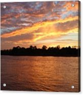 Colorful Sky At Sunset Acrylic Print