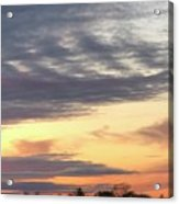 Sherbet Colored Sky Acrylic Print