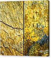 Colorful Slate Tile Abstract Composite H2 Acrylic Print