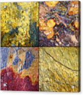 Colorful Slate Tile Abstract Composite Sq1 Acrylic Print