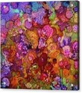 Colorful Spring Garden Acrylic Print