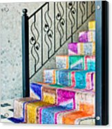 Colorful Stairs Acrylic Print