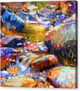 Colorful Stones Acrylic Print