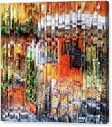 Colorful Street Cafe Acrylic Print