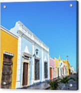 Colorful Street In Campeche, Mexico Acrylic Print