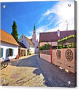Colorful Street Of Baroque Town Varazdin View Acrylic Print