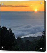 Colorful Sunrise Above The Clouds Acrylic Print