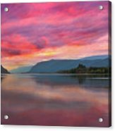 Colorful Sunrise At Columbia River Gorge Acrylic Print