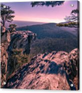 Colorful Sunset At Hanging Rock Acrylic Print