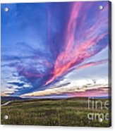 Colorful Sunset At The Reesor Ranch Acrylic Print
