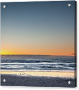 Colorful Sunset Over A Desserted Beach Acrylic Print