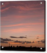 Colorful Sunset Over The Wetlands Acrylic Print
