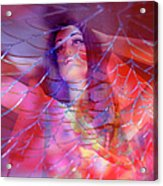 colorful surreal woman mannequin photography - Desdemona Acrylic Print by Sharon Hudson