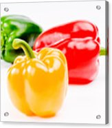 Colorful Sweet Peppers Acrylic Print