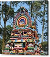 Colorful Temple, Valparai Acrylic Print