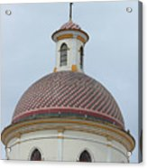 Colorful Tiles On A Church Dome Acrylic Print