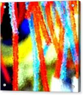 Colorful Tubes Acrylic Print