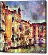 Colorful Venice Canal Acrylic Print