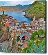 Colorful Vernazza From Behind Acrylic Print