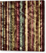 Colorful Vertical Stripes Background In Vintage Retro Style  Acrylic Print