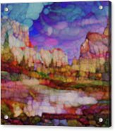 Colorful Vista Acrylic Print