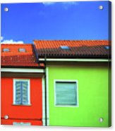 Colorful Walls And A Cloud Acrylic Print