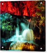 Colorful Waterfall Acrylic Print