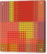 Colorful Weave Acrylic Print