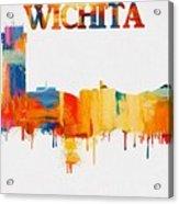 Colorful Wichita Skyline Silhouette Acrylic Print