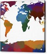 Colorful World Map Acrylic Print