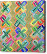 Colorful X-pattern  Acrylic Print
