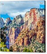 Colorful Zion Canyon National Park Utah Acrylic Print