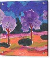Colorfull Trees Acrylic Print
