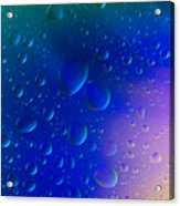 Colorfull Water Drop Background Abstract Acrylic Print