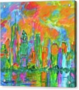 Coloring The Big Apple Stage One Acrylic Print