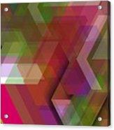 Dark Colorist Geometric Composition Acrylic Print