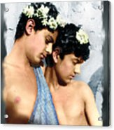 Colorized Edoardo And Vincenzo Galdi By Pluschow Acrylic Print