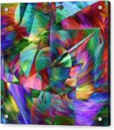 Colors And Geometries For A Violin  Acrylic Print