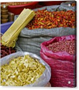 Colors In A Chinese Market Acrylic Print