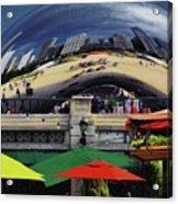 Colors N Curves Acrylic Print