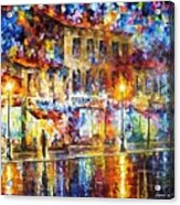 Colors Of Emotions - Palette Knife Oil Painting On Canvas By Leonid Afremov Acrylic Print