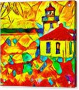Colors Of Lime Kiln Lighthouse Acrylic Print