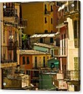Colors Of Manarola Italy Acrylic Print