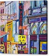 Colors of Paris Acrylic Print