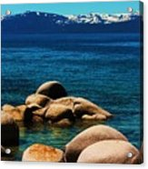 Colors Of Sand Harbor Acrylic Print