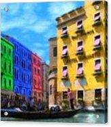 Colors Of Venice Acrylic Print by Jeff Kolker