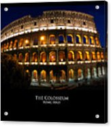 Colosseum At Night Acrylic Print